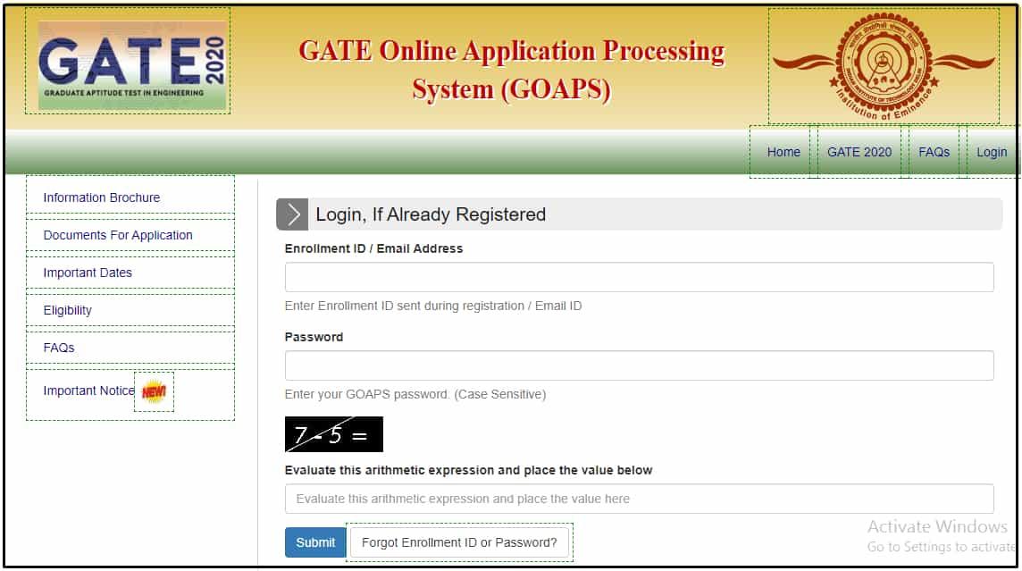 gate 2020 admit card download